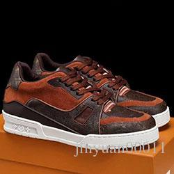 Louis Vuitton Shoe Moda Trainer Snekaer de los hombres zapatos de lujo Deportes confortable Tipo Footwears Zapatos De Lujo Para Hombre Estilo a0528
