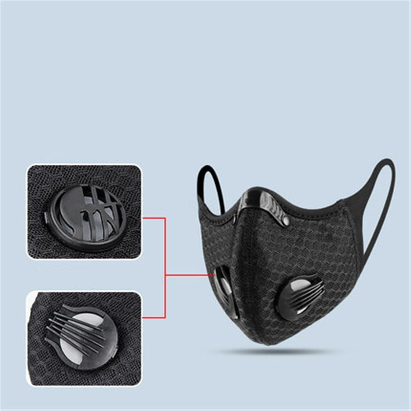 Free Shipping! Replaceable 5 Ply Face Mask Pm2.5 With Activated Carbon Dust Pm 2.5 s Air Mask #QA922