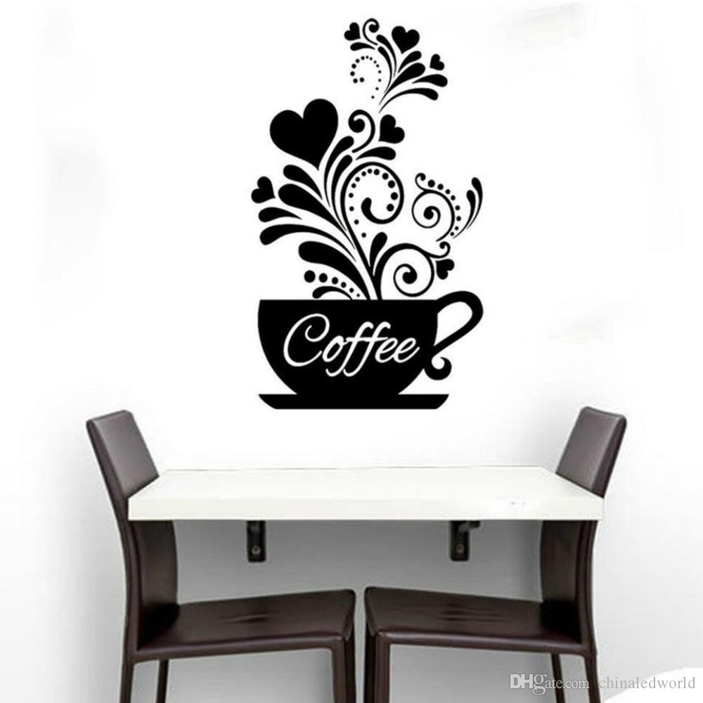 Acheter Sticker Mural Tasse A Cafe Pour Decor De Cuisine De 0 93