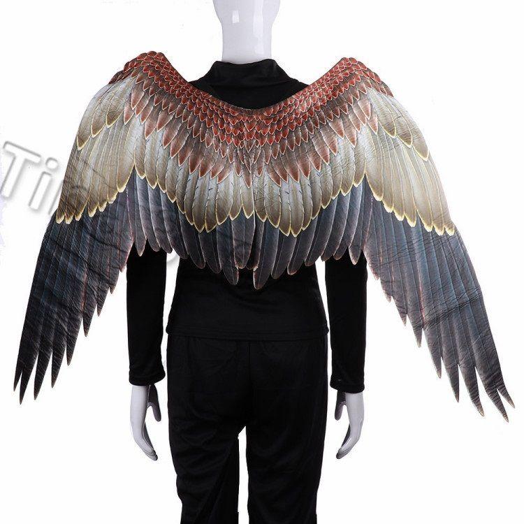 nouveau Mardi Gras Grand Aigle ailes Costumes non tissé Tissus foncé ailes Adulte Halloween Carnaval Fancy Dress Ball Party SuppliesT2I5329
