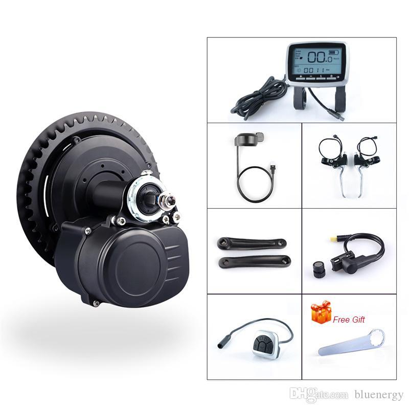 TONGSHENG TSDZ2 36V 250W 350W 48V 500W 토크 센서 드 DIY eBike 중순 드라이브 크랭크 모터 키트 전기 자전거 모터 변환 키트