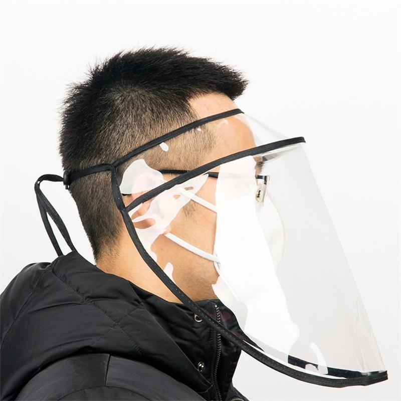 Removable Protect Mascherine Visor Cap Hat Transparent Adjustable Anti Droplet Splash Face Masks Plastic Respirator Free Shipping 7yh E1