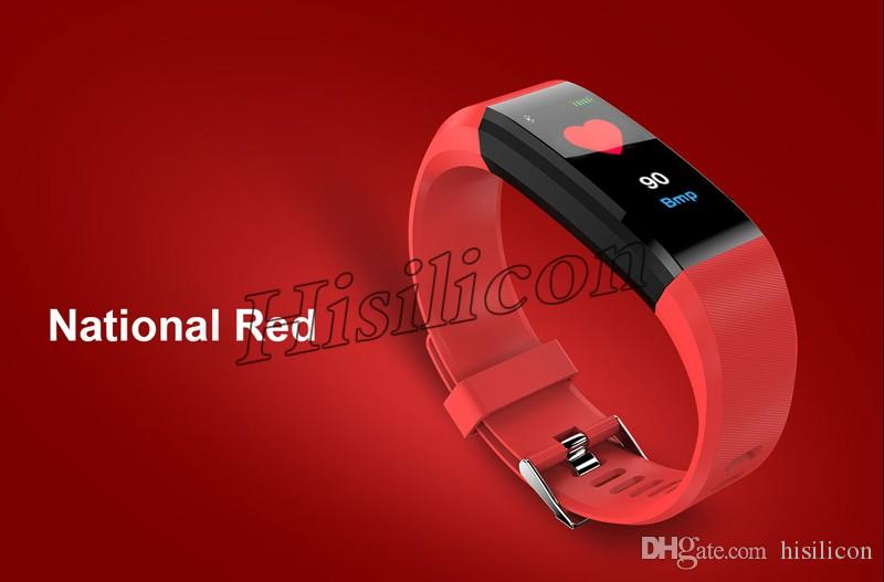 50шт ID115 115 плюс смарт-браслет с Heart Rate Смарт Часы группа Fitness Tracker артериального давления Wristband PK ID116 плюс M3 M4