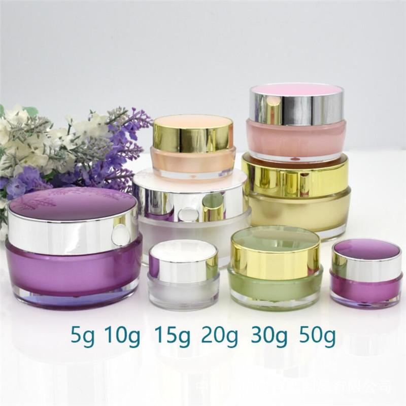 5g 10g 15g 20g 30g Cosmetic Empty Jar Acrylic Makeup Face Cream Container Bottle Refillable Plastic Cosmetic Pot