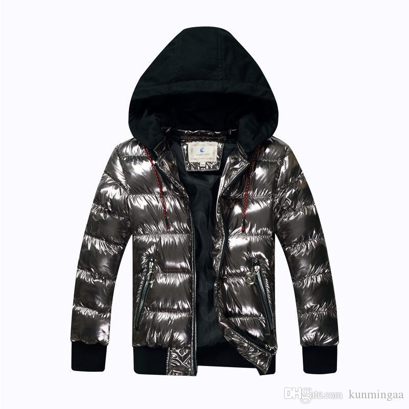 Мальчики Зимнее пальто Parka хлопка-ватные куртки Big Kids автозагар с капюшоном Теплый пуховик Подростки сгущает Водонепроницаемый Верхняя одежда
