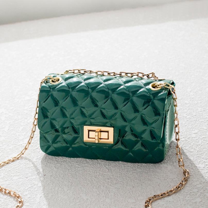 Sac solide verrouillage Petit carré Sac simple épaule Messenger Bag chaîne en gros petits sacs d'aide aux femmes