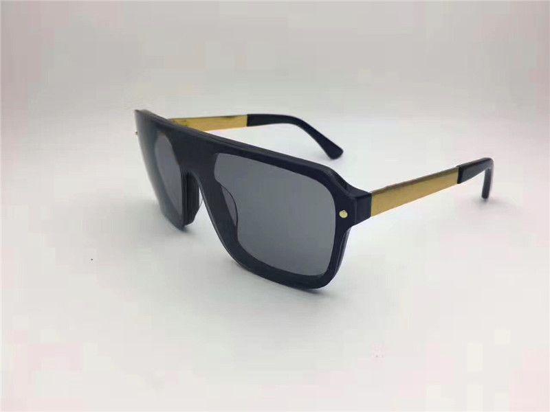 Großhandel klassische Modedesigner Sonnenbrille 00466 quadratische Rahmen Verbindung Objektiv glotze populäre Avantgarde einzigartigen Stil hochwertige uv400