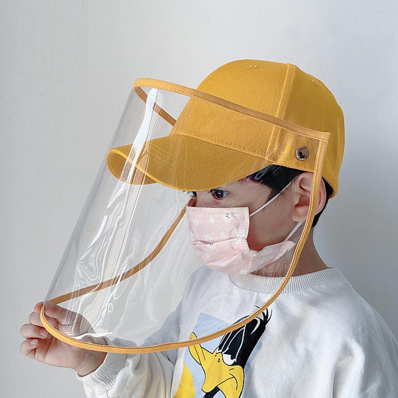 Kids Protective Hat Transparent Anti-saliva Removable Outdoor Baseball Cap For Children Dust Cover Full Face Anti Droplet Hat T200611