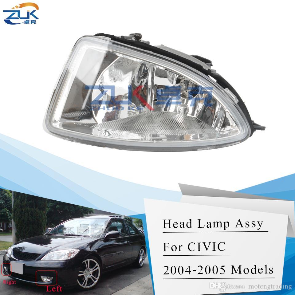 ZUK Left Right Fog Lamp Fog Light Front Bumper Lamp For HONDA CIVIC ES1 ES5 ES6 ES7 ES8 2004 2005 With Bulb