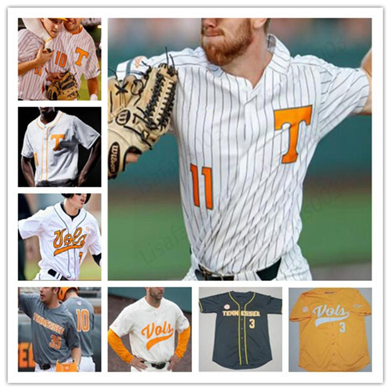 Collège Baseball Coutsed Jersey Tennessee Volontaires Todd Helton Yan Gomes Matt Duffy Eric Gilliam Alex Sosnowski Reed Châpée Mens Youth