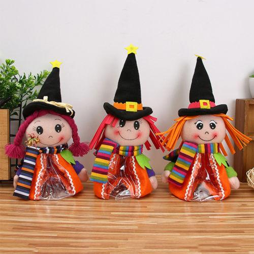 Halloween Candy Bags Doll Gifts Cartoon Toy Jar Trick or Treat Kids Candy Bags