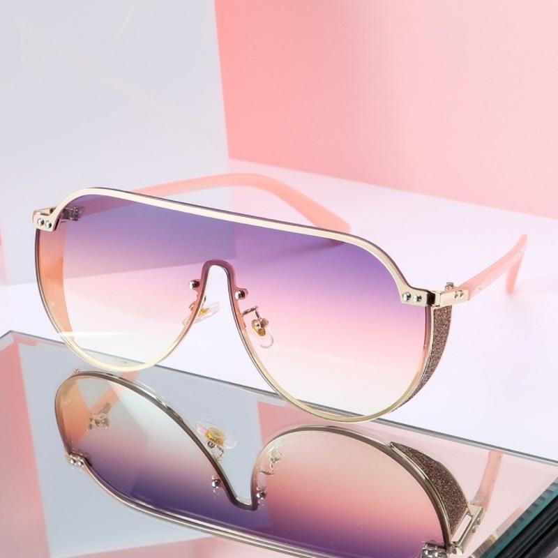 مربع الفاخرة المتضخم نظارات المرأة شقة الأعلى الوردي نظارات الشمس الرجال خمر كبيرة إطار مربع النظارات uv400 ديس هلالية دي سولي