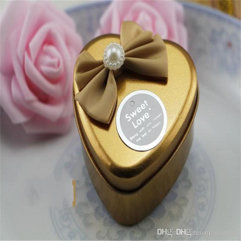 Exclusivo esmerilado de cristal de diamante en forma de corazón del favor de fiesta de la boda de la hojalata de regalo caja de las cajas del caramelo el envío libre
