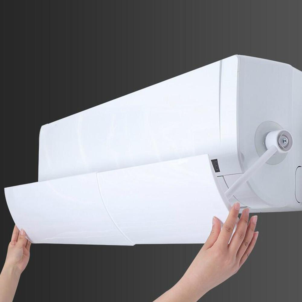 Guía ajustable de la cubierta del acondicionador de aire recto anti-viento Escudo del parabrisas Aire acondicionado deflector de viento Escudo Mes de acceso al ventilador