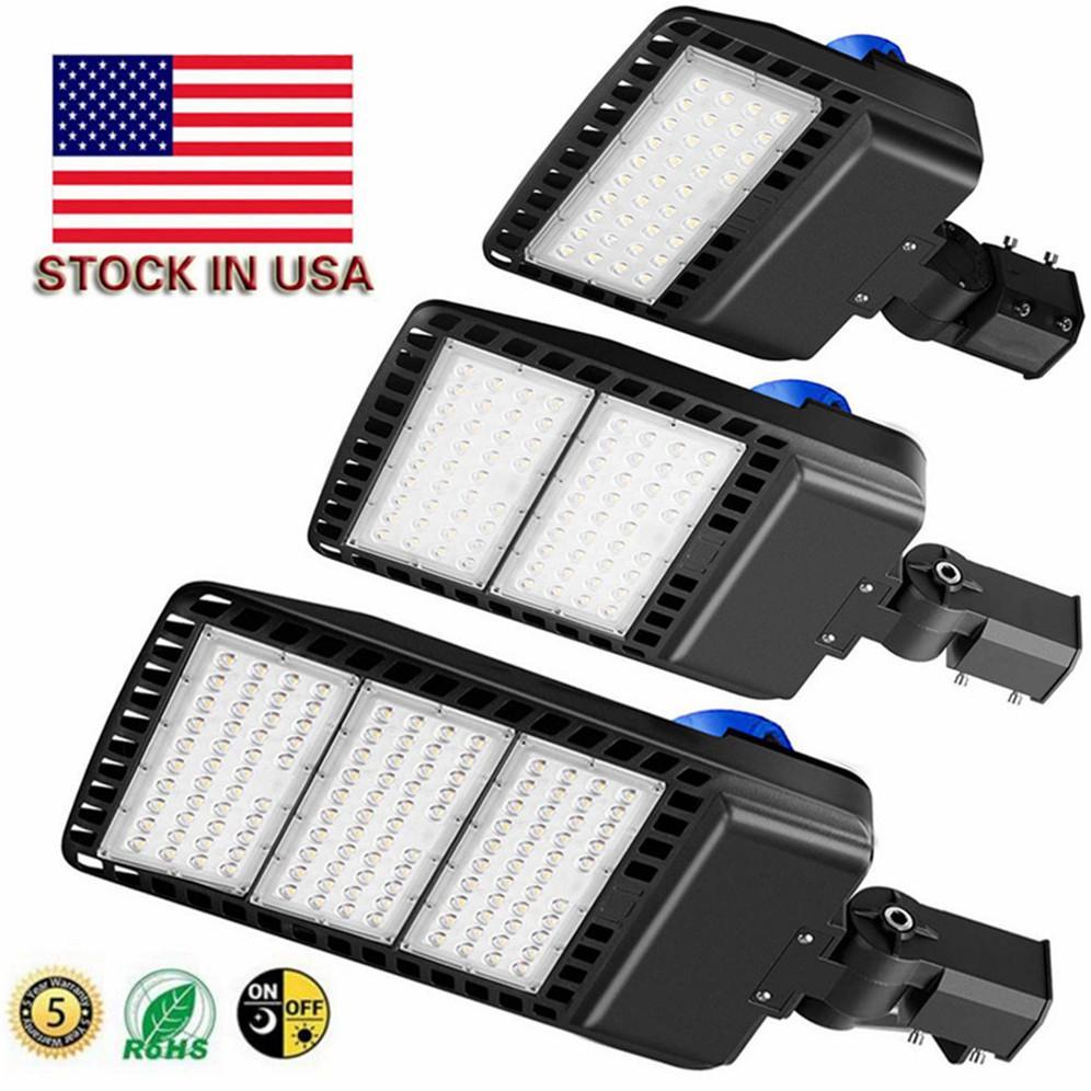 LED Park (Fotoselli ile) Çok Işıklar 5000K LED 200W Sokak Kutup Işık Taşkın Açık Kahverengi IP65 Ticari Hafif Yuvarlak Polo Kayma Fit Dağı