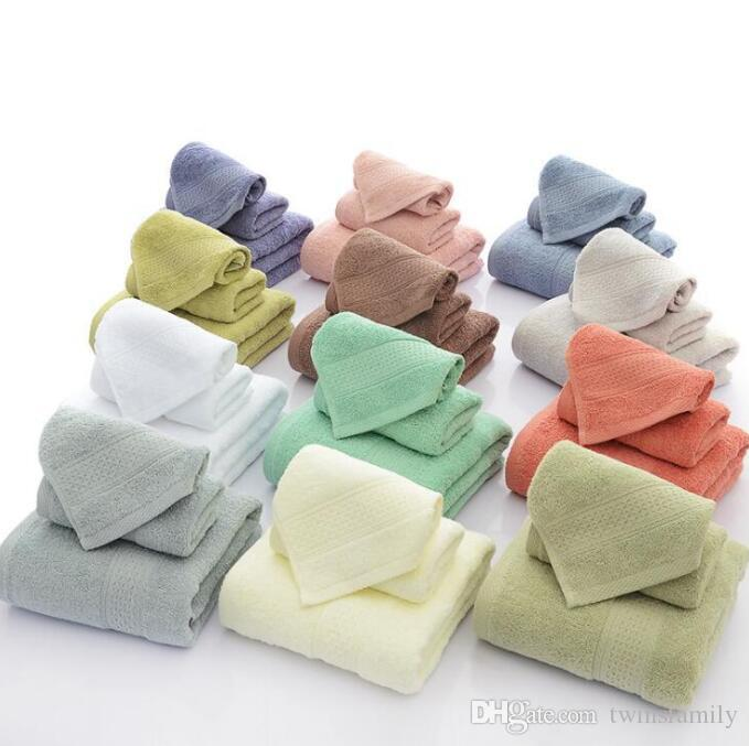Bath Towels Square Towel Solid Cotton Towel Bathroom Robes Beach Washcloth Salon Shower Travel Towels Hotel Gym Swaddles Spa Body Wrap C6955