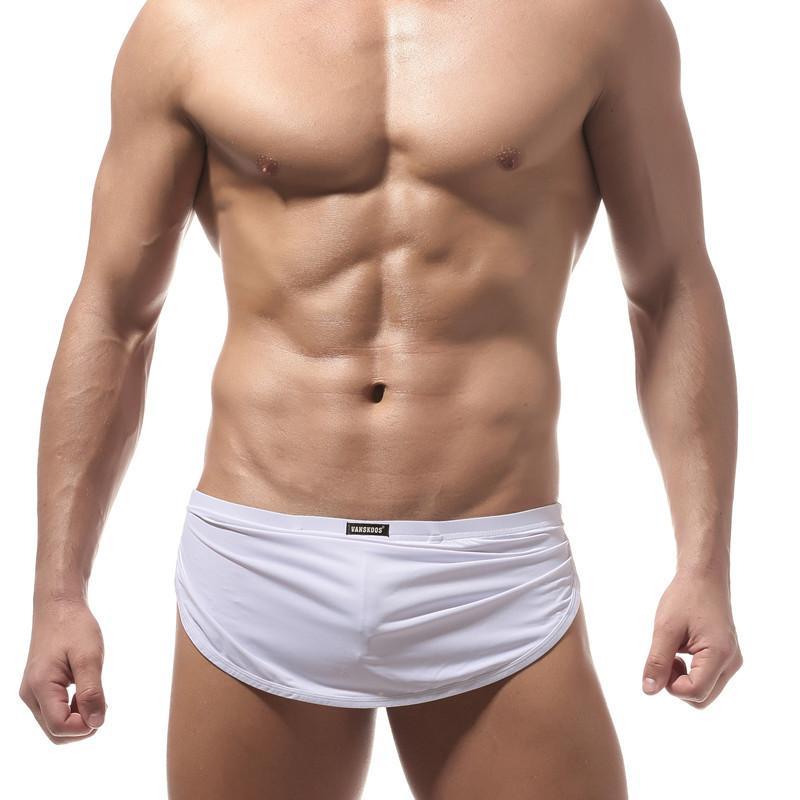 Lounge Pajama Sleep Bottoms Men's Sexy Underwear Shorts Boxers Casual Home Comfortable Side Split Loose Pajama Bottoms Boxers