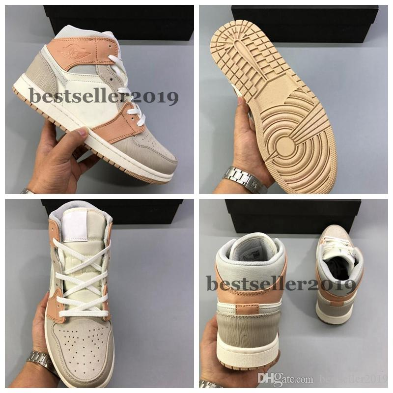 New Cheap 1 Mid Milan 2020 Hommes Basketball Chaussures Baskets Sneakers Baskets 1s des chaussures Zapatos Taille 36-45