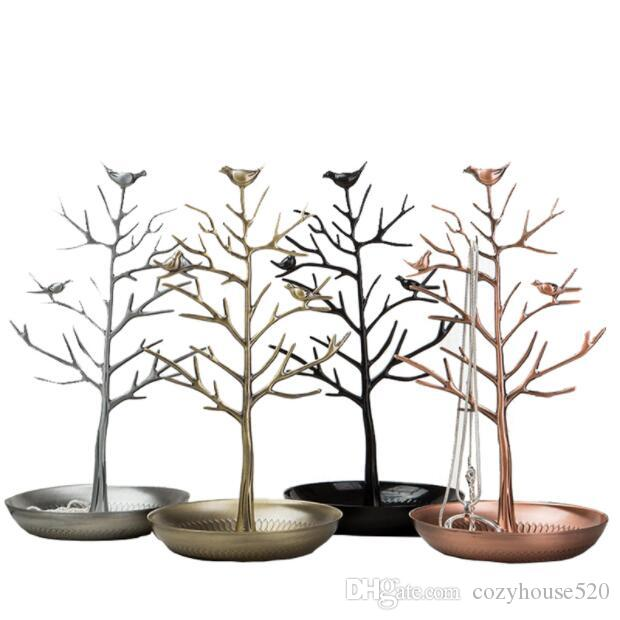 15*30cm 4style Jewelry Stand rack Household iron Necklace rack Earring rack alloy jewelry display prop bird tree Home furnishings 1pc C617