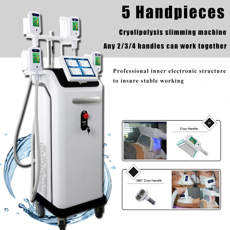 Cryolipolysis fat freezing slimming machine cryotherapy weight loss machine 4 cryo handles can work together free shipping