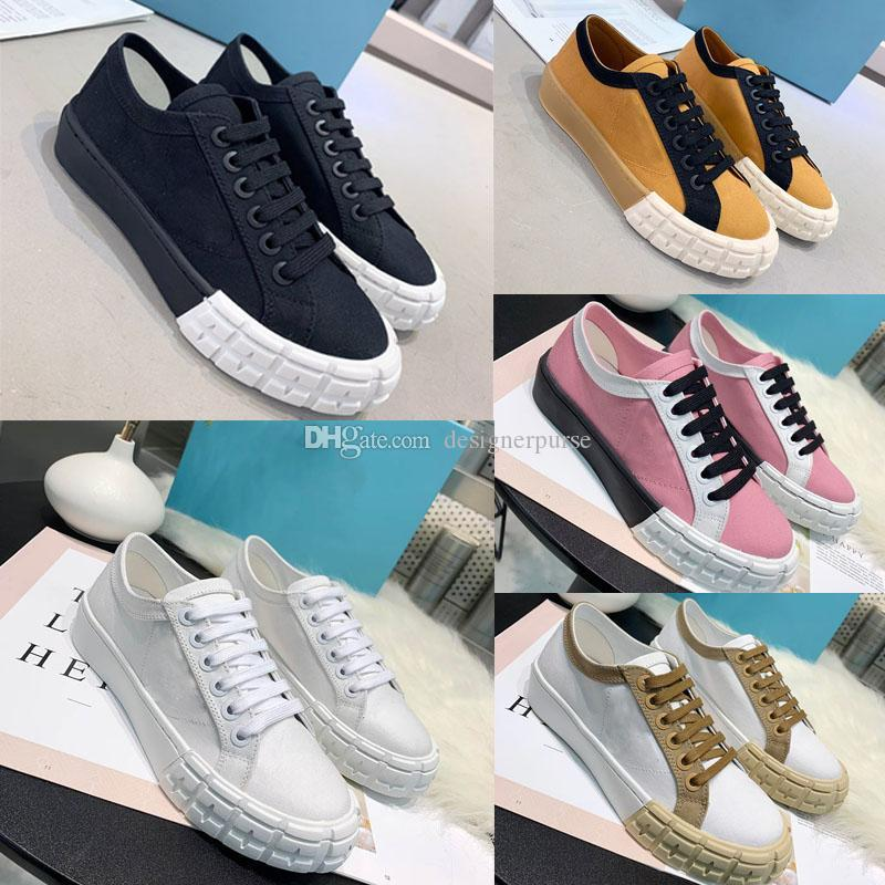 Les nouveaux appartements plateforme femmes occasionnels toile semelle en caoutchouc pour femmes baskets casual chaussures design de luxe de la mode chaussures baskets concepteur