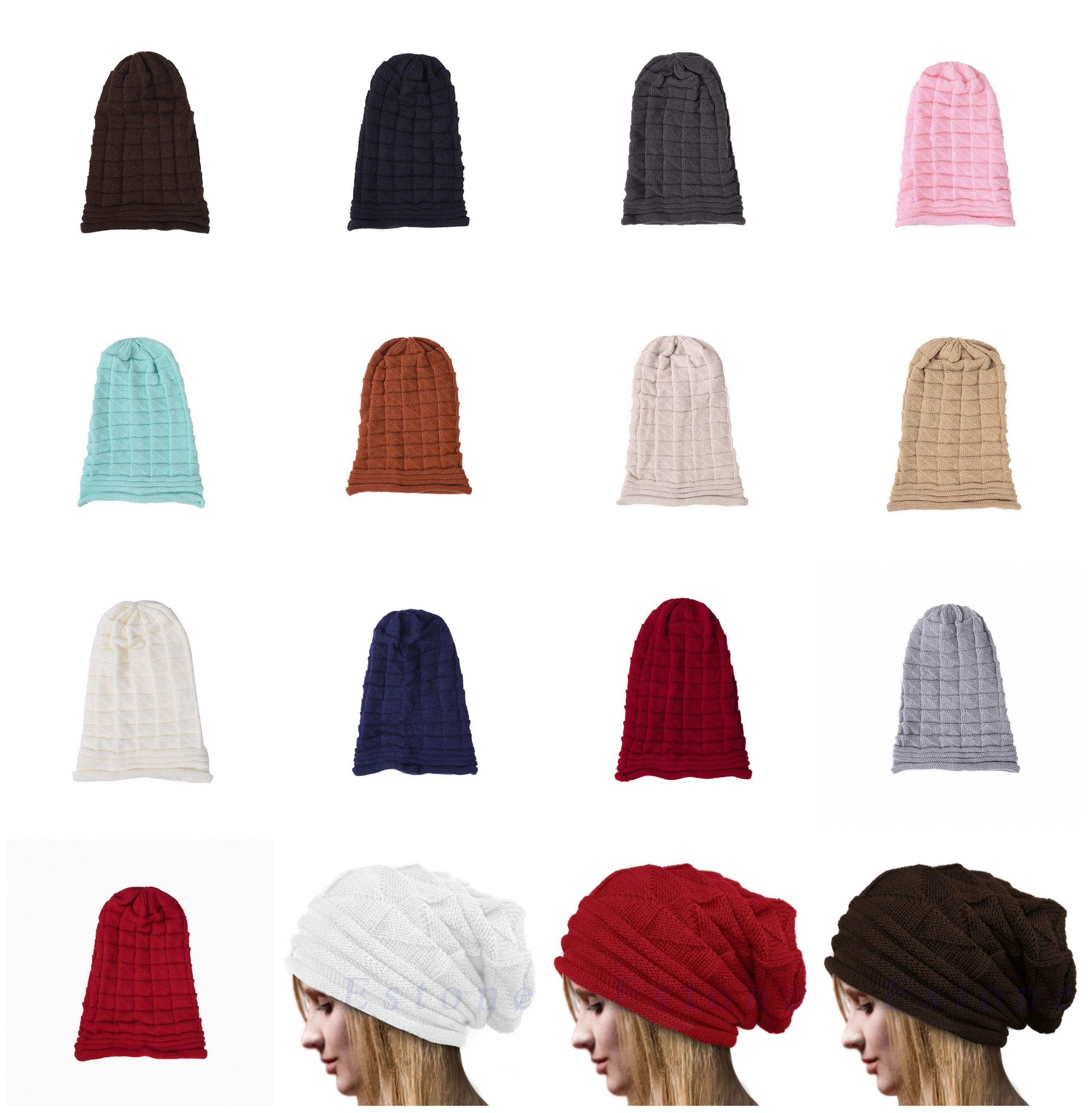 Winter Warm Beanie Hat Casual Crochet Slouchy Oversized Outside Ski Cap Knit Wool Hats For Women Men