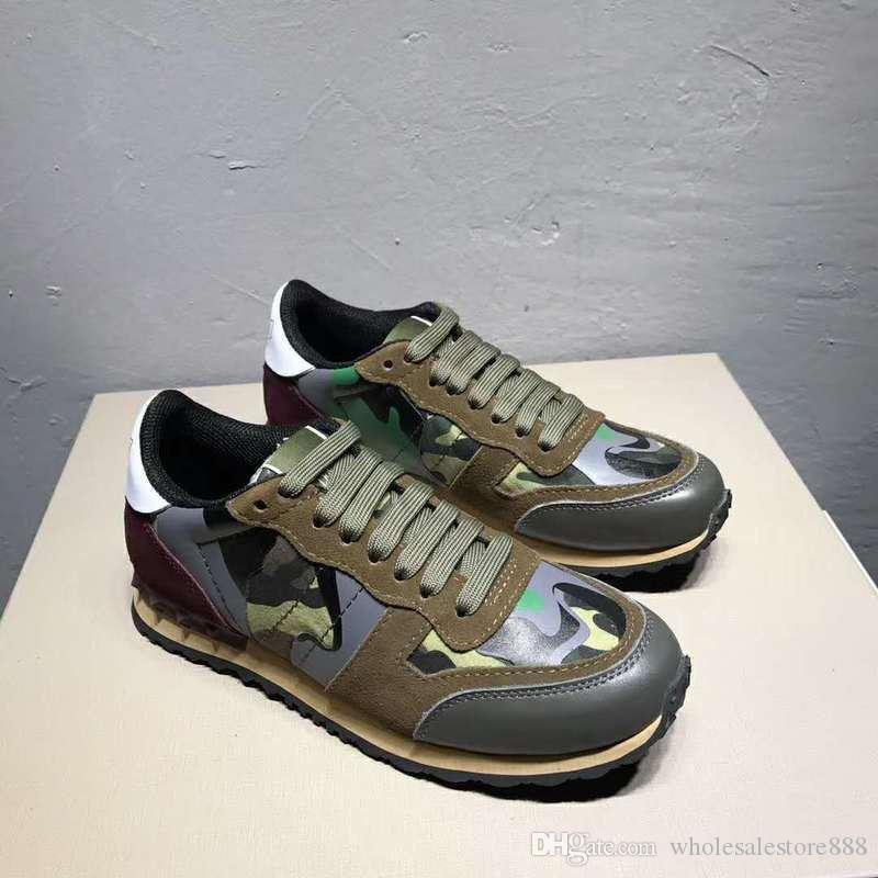 Roccia corridore della scarpa da tennis scarpe per le donne gli uomini della vite prigioniera di lusso casuale Designer Shoes Sneakers chaussures