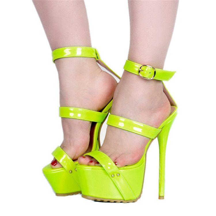 Legzen SUPER Heel Sandals Sexy Platform
