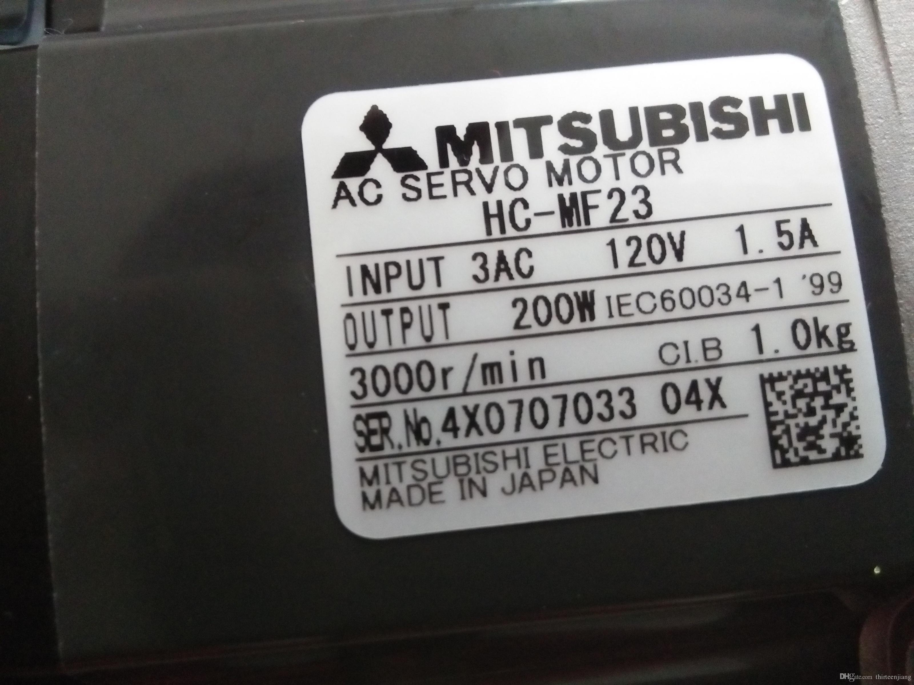 1 PC Mitsubishi AC Servo Motor HC-MF23 Novo / Usado Frete Grátis Expedido