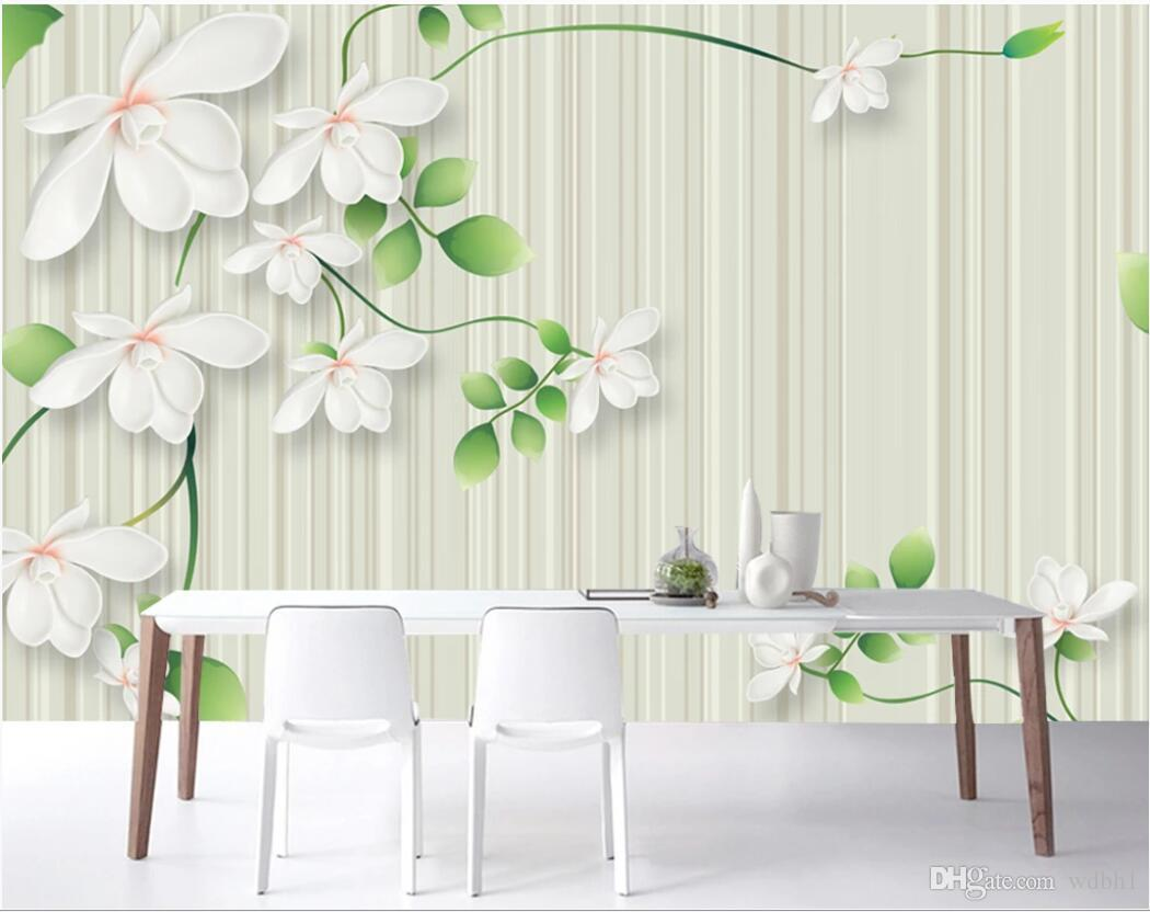 3d room wallpaper custom photo mural Hand-painted Chinese style pen and flower background wall decorative self-adhesive art canvas pictures