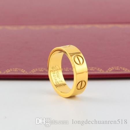 2020 versione moda di chiodo classicouomini Cartier in acciaio al titanio anello di donne sul 18k anello anello in oro rosa con nessuna scatola originale H11