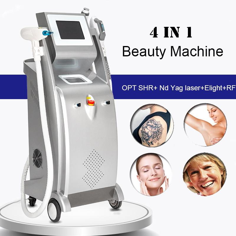 ND YAG лазерная татуировка удаления чернил для удаления чернил Elight rejuvenation кожи оптический диодная лазерная машина для удаления волос РЧ лифтирующее оборудование