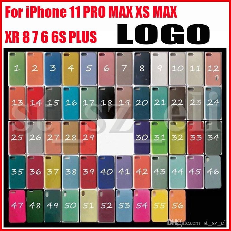 Original LOGO Silicone Cases For New iPhone 11 Pro 6 7 8 Plus Liquid Silicone Case Cover For iPhone X XR XS Max With Retail Package