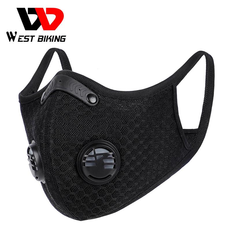 Cycling Face Mask Dust Mask Activated Carbon With Filter PM2.5 Anti-Pollution Washable MTB Bike Mask