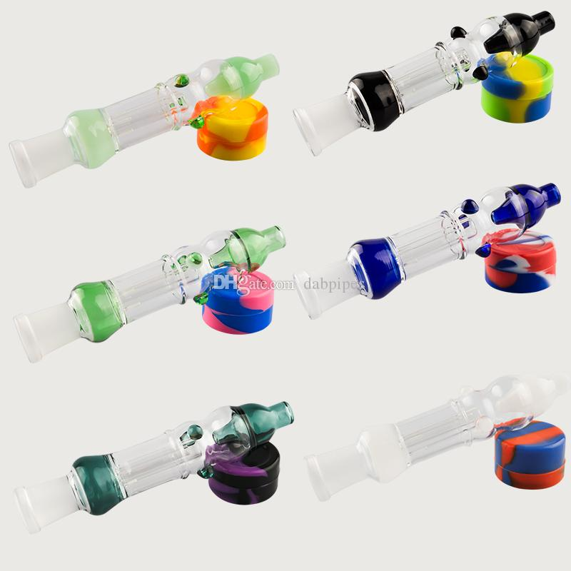 Colorful CSYC Pipe Kit With Titanium Tip Quartz Nail 10mm 14mm Honey straw Oil Rigs Glass Water Pipe Glass Bong Dab Tool