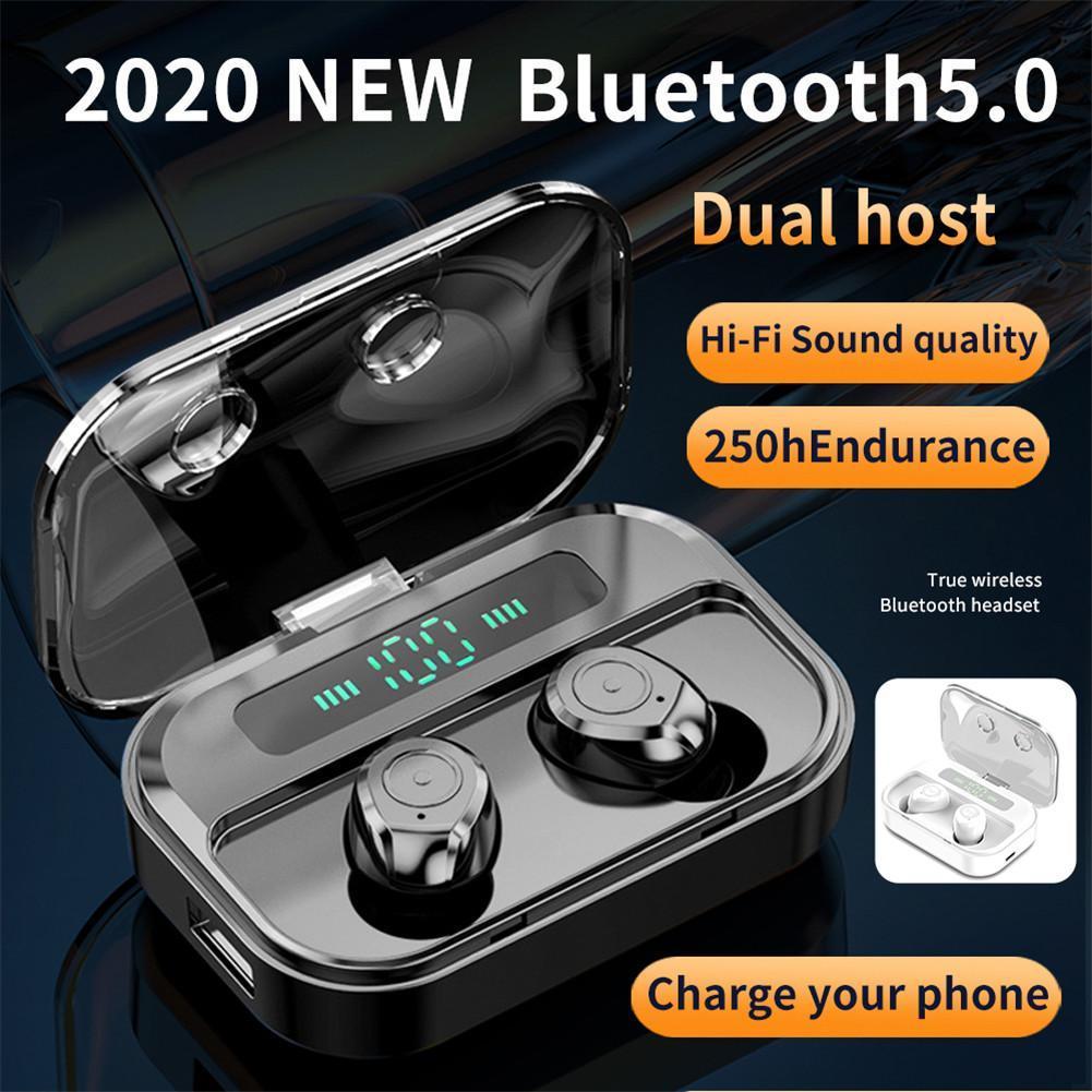 M7s TWS بلوتوث 5.0 ستيريو سماعة لاسلكية مع بطارية 1500mAh LED العرض شحن صندوق هاي فاي HD جودة الصوت الرياضة سماعة
