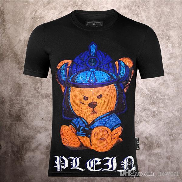 masculina de T-shirts Moda crânios impressão # 5660 Streetwear engraçado camiseta Homens Verão Casual Hip Esporte Rua Tops Hop Tee Masculino algodão de manga curta