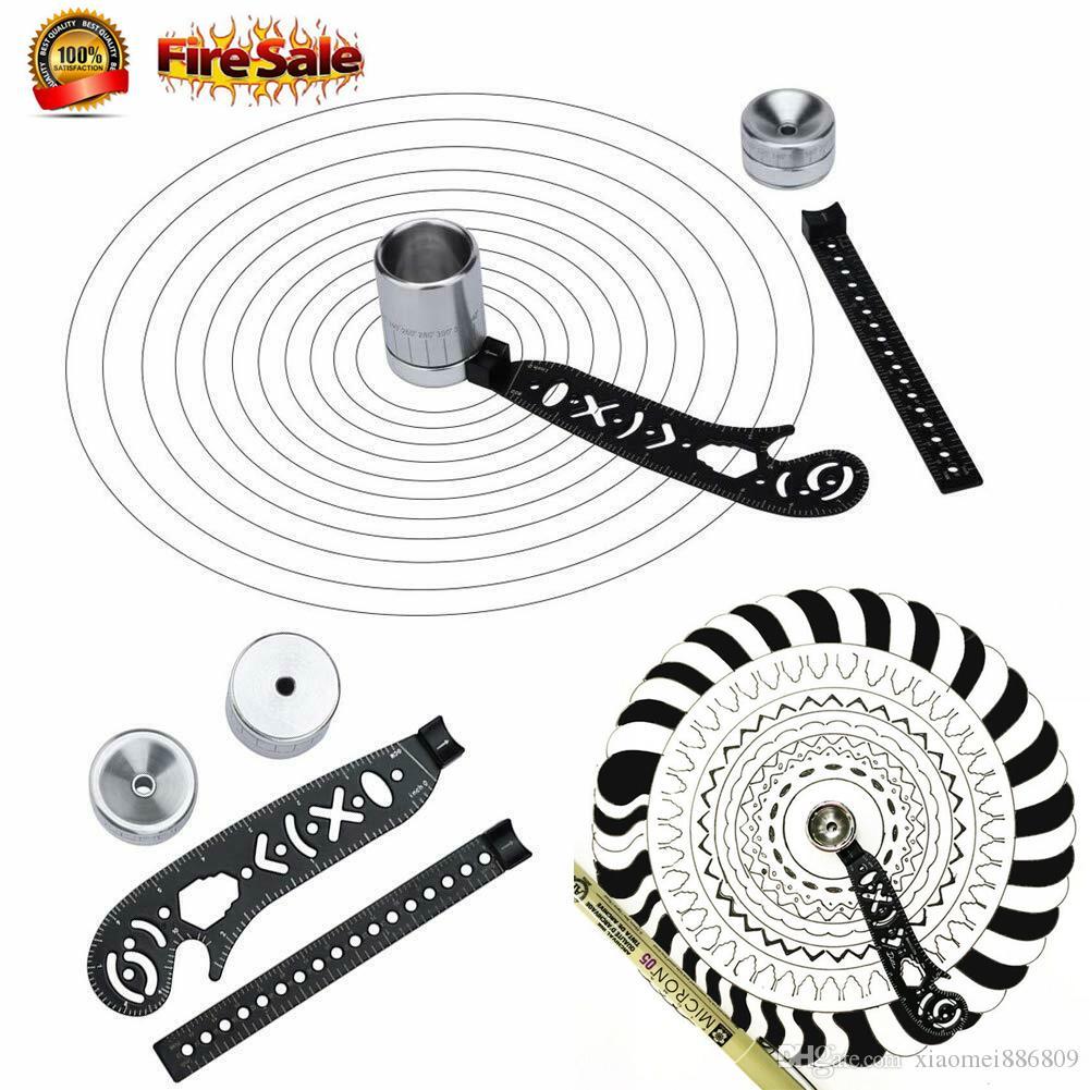 InsHot Magcon Ultimate Design Tool Mini Compass Protractor Combo-Circles Drawing