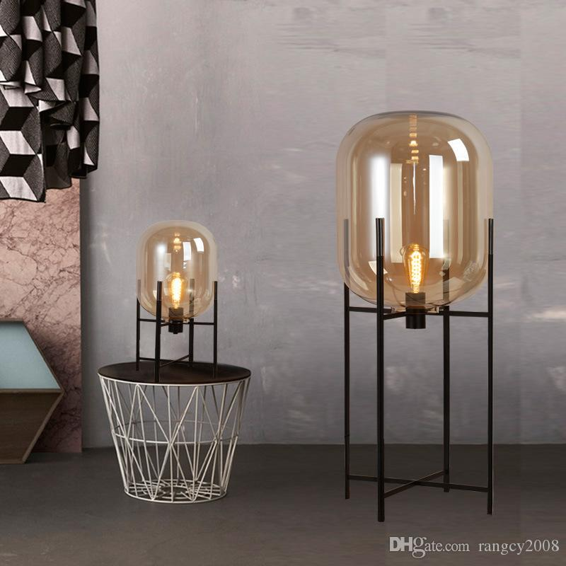 Modern Glass Table Lamps Bedside standing Lighting Nordic globe bed lamp office desk lamps lumiiare bedroom decorative lighting