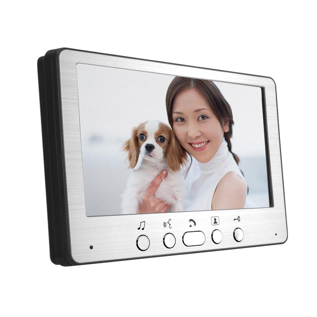 "HD 7 ""TFT cor Vídeo Porteiro Intercom Doorbell Home Security Camera Monitor sistema de Visão Noturna"