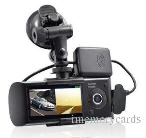 2019 المزدوج عدسة سيارة DVR X3000 R300 داش الكاميرا مع GPS G- الاستشعار كاميرا الفيديو 140 درجة زاوية واسعة 2.7 بوصة كاميرا فيديو مسجل رقمي