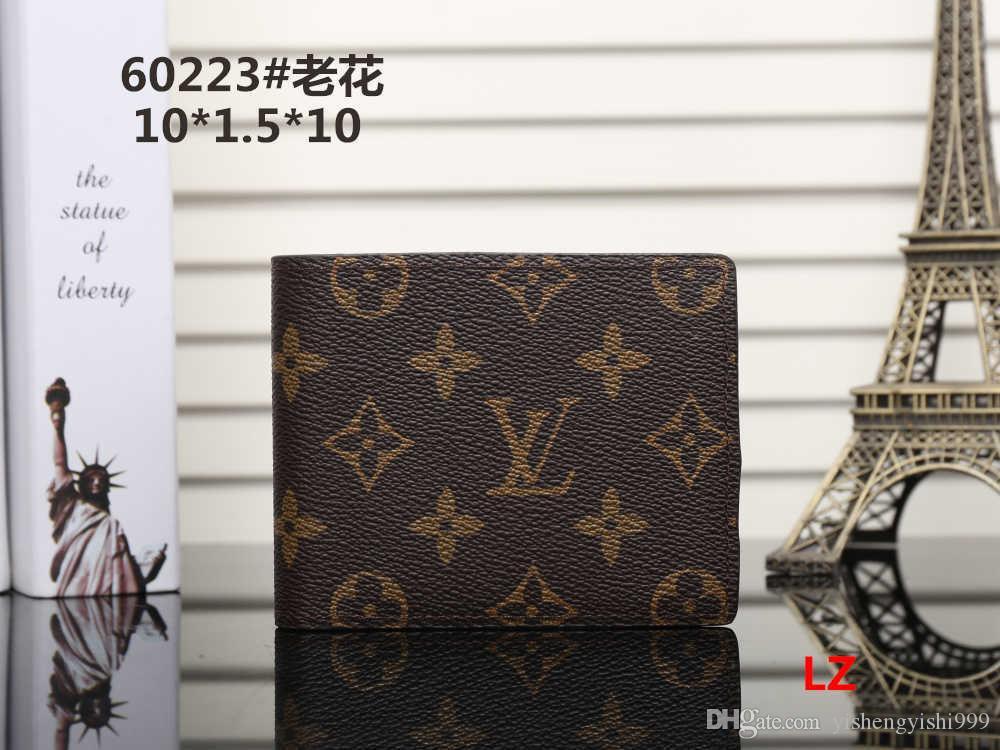2020 Оптовая продажа бумажник дизайнер тотализатор кожаный бумажник роскошные мужчины короткие кошельки для женщин мужчины портмоне клатчи #42111
