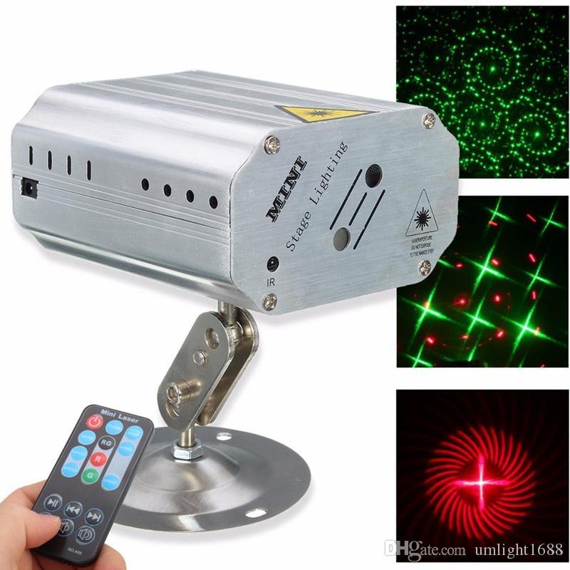 Umlight1688 Sprachsteuerung Musik Rhythmus Blitzlicht LED Laser Projektor Bühne DJ Disco Licht Club Tanz Party Lichter Bühneneffekt Beleuchtung