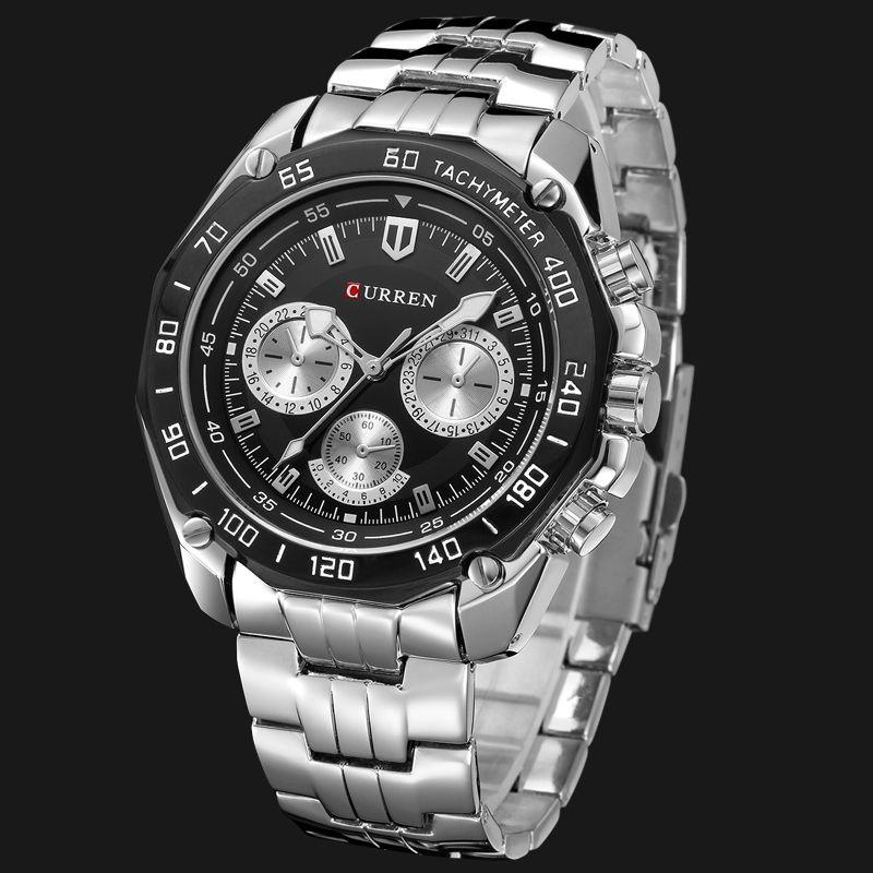 Fashion Full Stainless Steel Watches For Men CURREN Casual Quartz Mens Wrist Watch Waterproof Male Clock Gentleman Relojes Gift