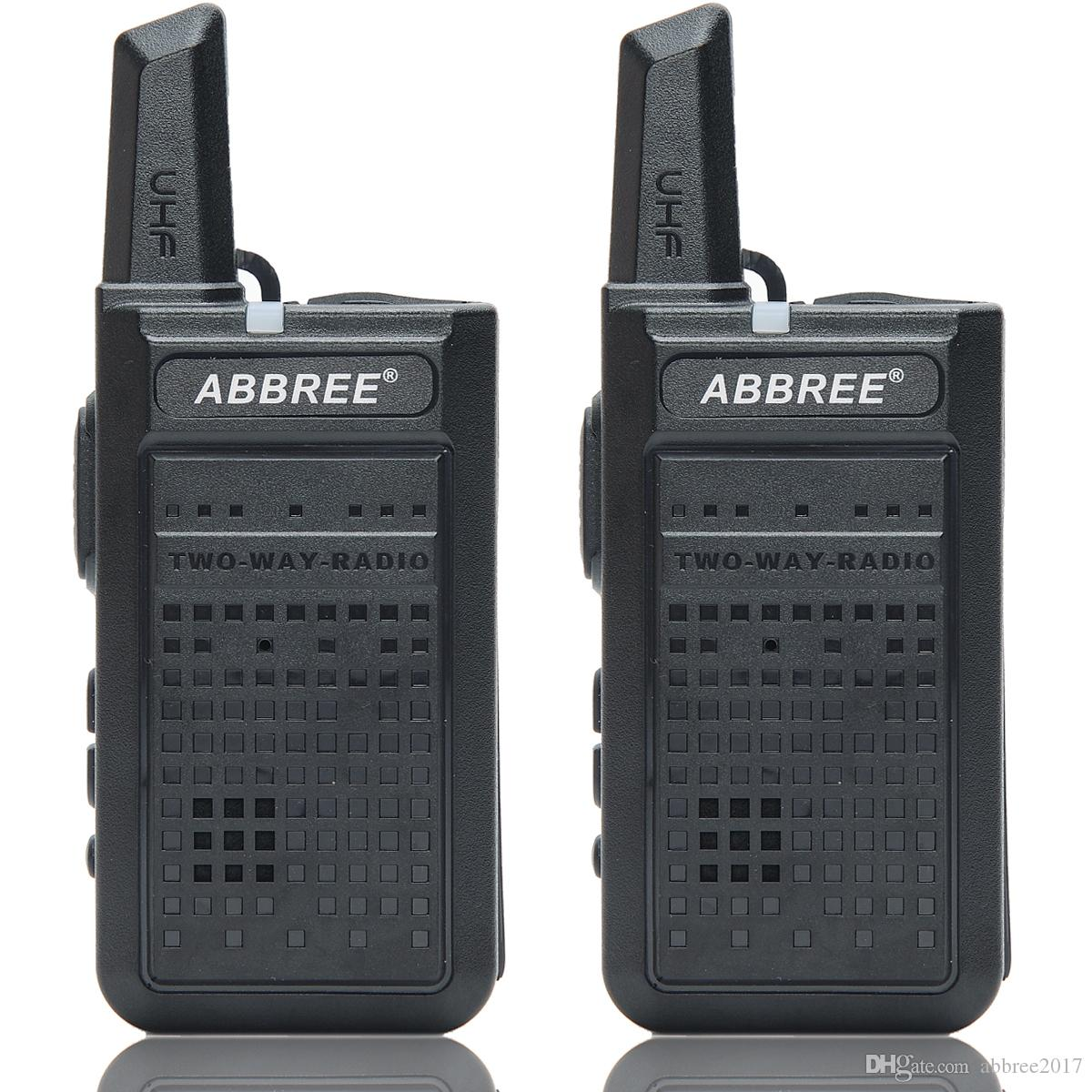2pcs ABBREE AR-A2 mini portáteis Walkie Talkie carga USB VOX Two-Way Radio Handheld transceptor UHF 400-470MHz