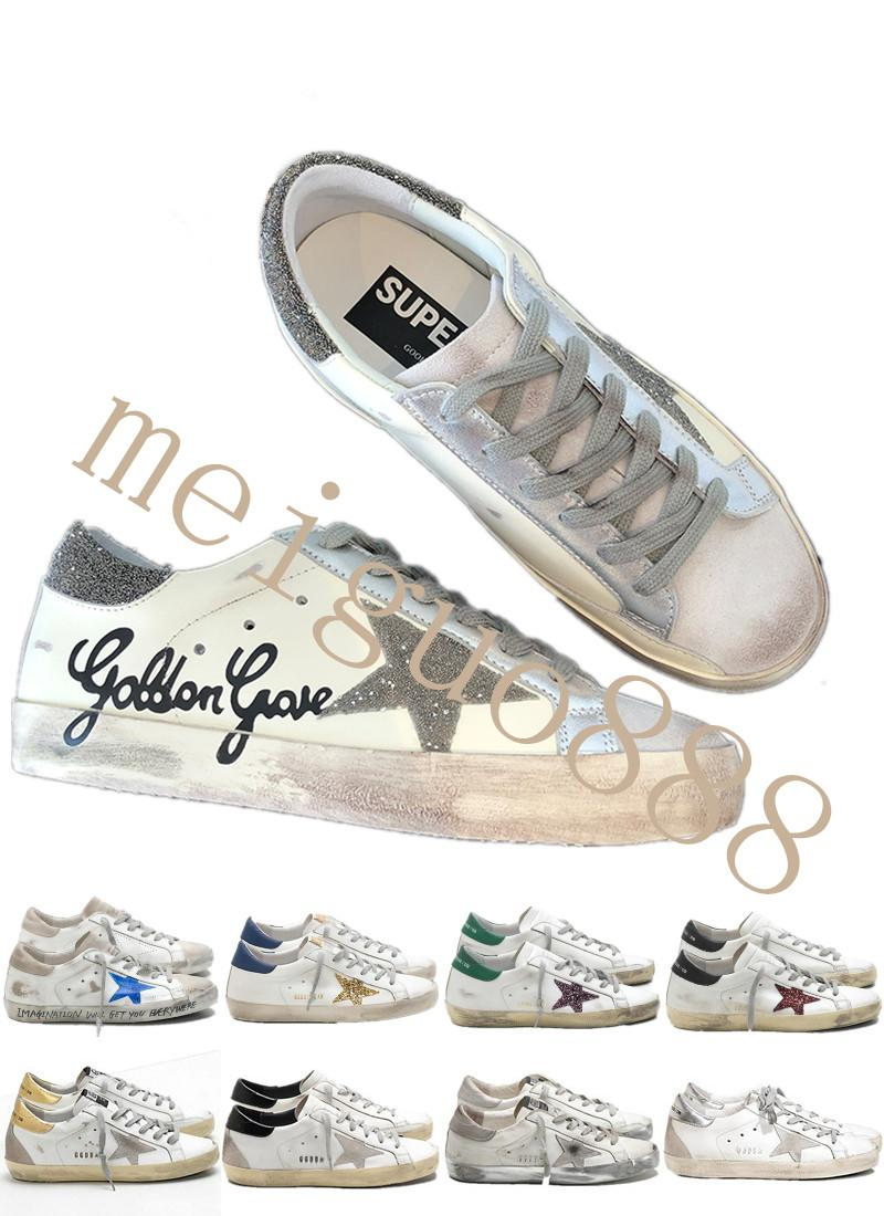Italy Brand Multicolor Golden Superstar Gooses Designer Sneakers Men Women Classic White Do-old Dirty Shoes Casual Shoes Size 35-45 #1