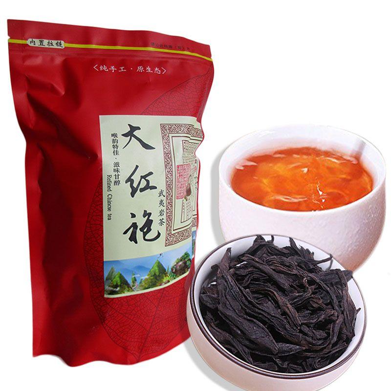 Sıcak Sales 250g Çin Organik Siyah Çay Dahongpao Büyük Kırmızı Robe Klasik Oolong Çay Sağlık Yeni Çay Yeşil Gıda Pişmiş