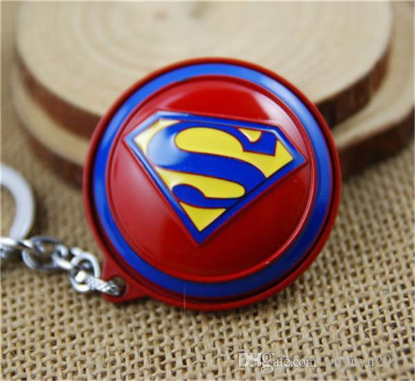 10style Capitão América Thor Batman Homem de Ferro Superman Spider Man The Avengers Keychain Chaveiro Filme Super Hero Key Anel 03 newv003
