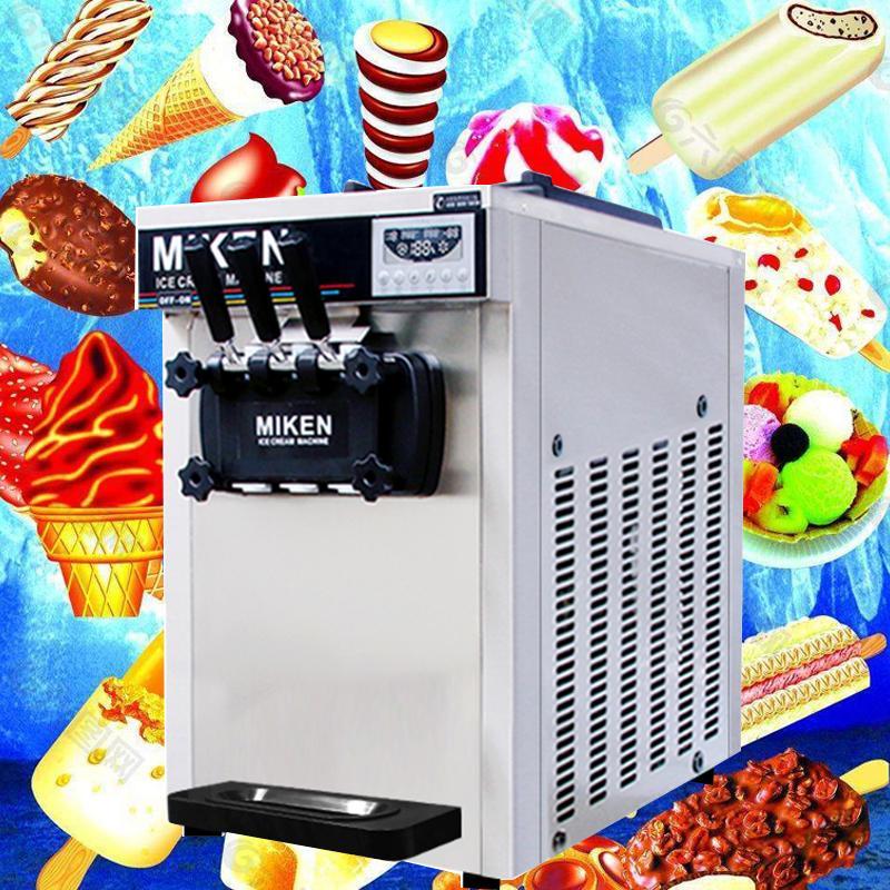 Garanzia di nuovo arrivo uno anno cream macchina Thailandia ghiaccio commerciale 1600W tre sapore macchina per gelato soft in vendita