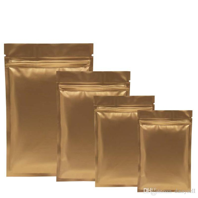Золото Запах Proof мешки алюминиевой фольга Zipper Bag Майларовая сумка для Долгосрочного хранения продуктов и коллекция защита Two Side Цветного